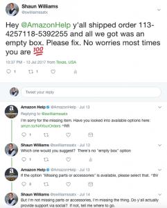 stale customer service
