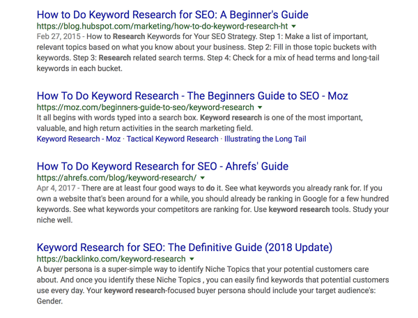 Keyword Search Results